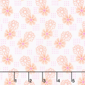 Good Day! - Perky Posies Orange Yardage