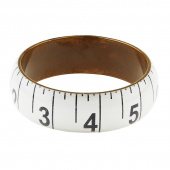 Missouri Star Measuring Tape Bracelet - Wide White