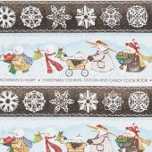 Snow Sweet - Folk Parade Border Stripe Yardage