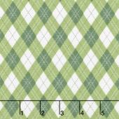 Rustique Winter - Gift Wrap Green Yardage