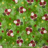 Just be Claus - Tiny Santa Green Yardage