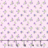 Chelsea - Mini Flower Toss Red Purple Yardage