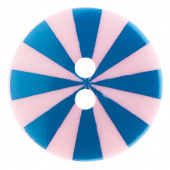 """Kaffe Fassett Button - 3/4"""" Blue & Pink  Radiate"""