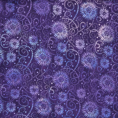 "Wilmington Essentials - Flower Burst Purple 108"" Wide Backing"