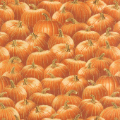 Gather Here - Packed Pumpkins Orange Metallic Yardage