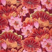 Kaffe Classics - Lipstick Lake Blooms Red Yardage