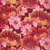 Kaffe Classics - Lipstick Lake Blooms Red Yardage