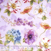 Rainbow Seeds - Florals Allover Purple Yardage