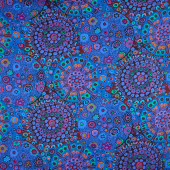 "Kaffe Fassett - Miliefiore Blue 108"" Wide Backing"