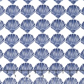 Tide Pool - Scallop Shells White Yardage