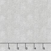 Woolies Flannel - Herringbone Light Grey Yardage