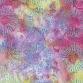 Tonga Batiks - Dragonfly Starburst Storm Yardage