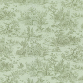 Meredith - Toile Green Yardage