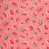 One in a Melon - Ants and Watermelon Slices Pink Yardage