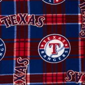 MLB Fleece - Texas Rangers Red/Blue Yardage