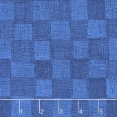 Only You - Chex Dark Blue Yardage