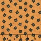 Costume Maker's Ball - Cat Buttons Orange Yardage