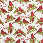 Cardinal Woods - Cardinals Cream Multi Yardage