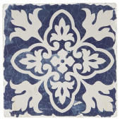 Indigo Patterns Coaster - Leaf Medallion