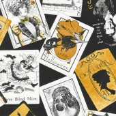 Queen of We'en - Black Tarot Cards Yardage