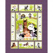Barnyard Buddies - Quilt Purple Panel