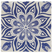 Indigo Patterns Coaster - Flower Burst Medallion
