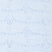 Dumbo - Bunting Banners Light Blue Yardage