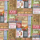 Country Paradise - Country Signs Tan Yardage