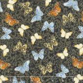 Field of Dreams - Butterfly Garden Black Yardage