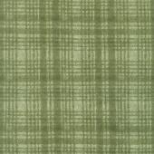 Woolies Flannel - Windowpane Green Yardage
