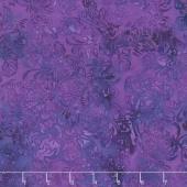 Paradise Petals Batiks - Mums Dark and Light Purple Yardage