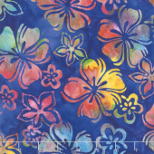 Artisan Batiks - Bright Blooms Flowers Rainbow Yardage