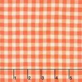 Good Day! - Gingham Orange Yardage