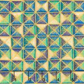 Treasures of Alexandria - Jewel Triangles Metallic Yardage