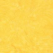 Tonga Batiks - Colorwheel Rainbow Dotty Spiral Mango Yardage