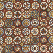 Heritage Quilting - Hex Symbols Red Multi Yardage