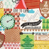 Nicole's Prints - Love to Camp Multi Yardage