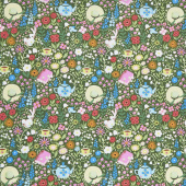 Kindred Spirits: Anne of Green Gables - Main Floral Dark Green Yardage
