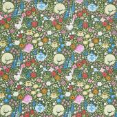 Kindred Spirits: Anne of Green Gables - Main Floral Dark Green Yardage