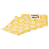 Home Grown Tea Towel - Dot Flowers Yellow
