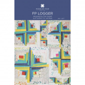 Man Sewing FP Logger Quilt Pattern