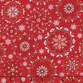 Winter Games - Snowflakes Red Yardage
