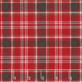 Home Sweet Cabin - Plaid Red Yardage