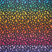 Art Theory - Seventy Six Bird & Bee Ombre Night Yardage