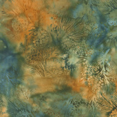 Forest Walk Batiks - Pinecone Falling Leaves Yardage