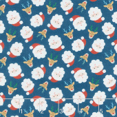 Jolly Season - Santas Midnight Yardage