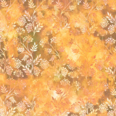 Floragraphix V - Sprigs Orange Yardage