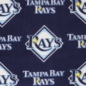 MLB Fleece - Tampa Bay Rays Blue Yardage