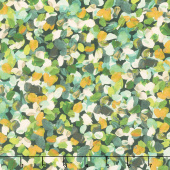 Painterly Petals - Flowers Olive Digitally Printed Yardage