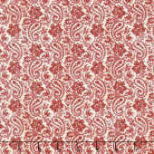 The Little Things - Paisley Natural/Red Yardage